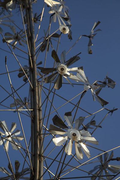 Picture of Metal sculpture, one of the examples of modern art in the Garden of Five Senses