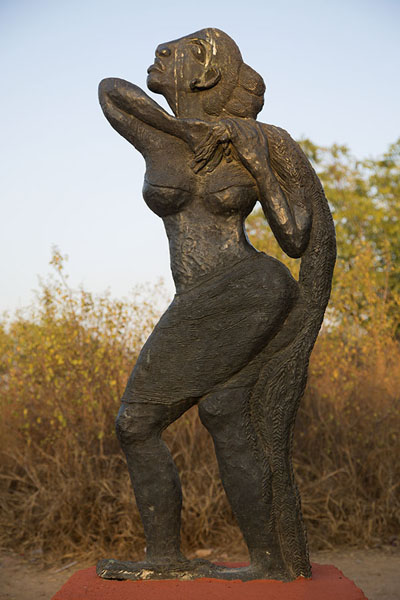 Picture of Statue of woman in the Garden of Five Senses