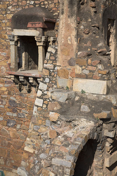 Picture of South wall of the mosque of Hauz Khas seen from the north wing of the madrasa - India - Asia