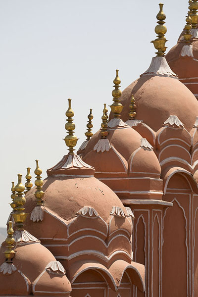 The top floors of Hawa Mahal are all pink and full of spires | Hawa Mahal | India