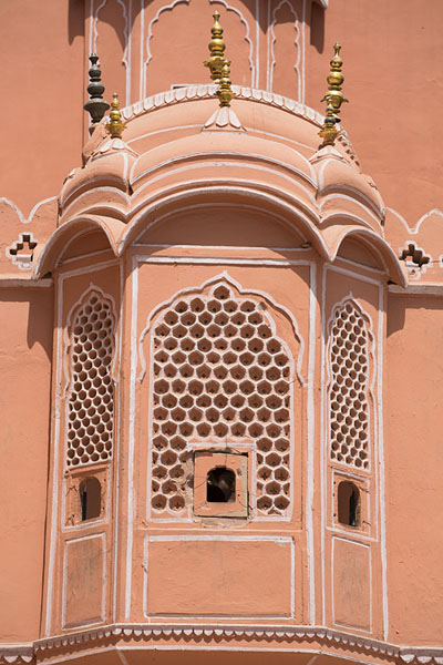 One of the many rooms of Hawa Mahal from the outside | Hawa Mahal | India