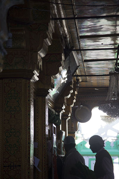 Picture of Muslim entering the shrine of Nizamuddin AuliyaDelhi - India
