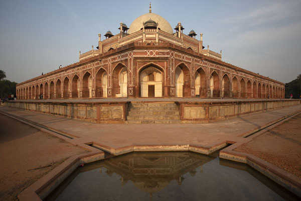 The arched base of the mausoleum of Humayun | Humayun Tomb | India