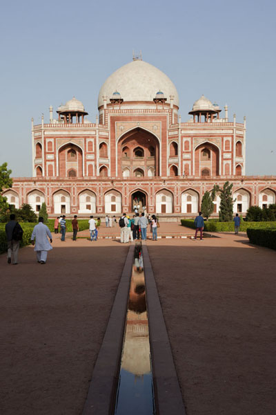 Humayun's tomb reflected in the small channel | Humayun Tomb | India