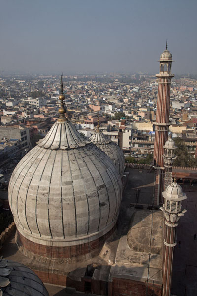 View over the mosque and Old Delhi from the southern minaret | Jama Masjid | India