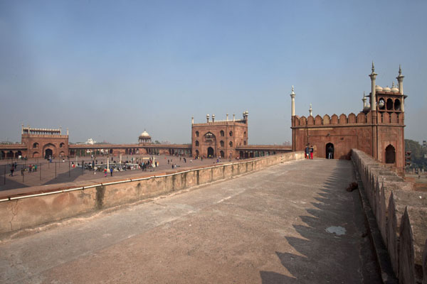 View of the southern wall and terrace of the Jama Masjid | Jama Masjid | India