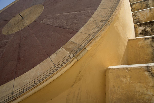 Picture of Detailed view of the Nadivalaya Yantra, one of the sundials of Jantar Mantar - India - Asia