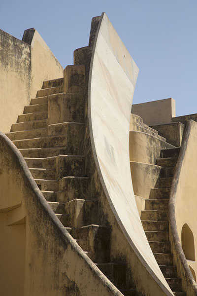 Stairs leading up Samrat Yantra | Jantar Mantar | India