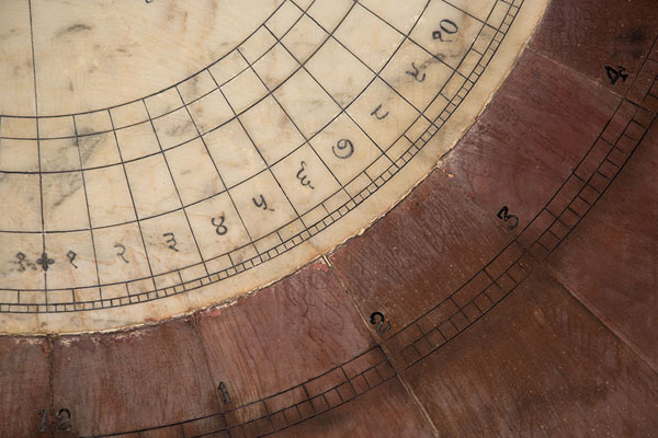 Picture of Close-up of the sundial of Nadivalaya Yantra - India - Asia