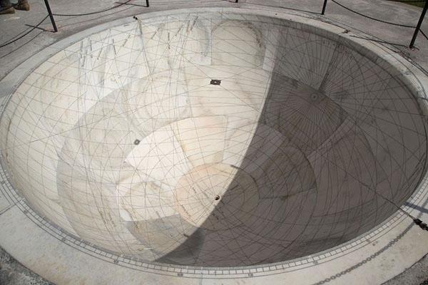 Picture of Kapala Yantra, a hemispherical sundialJaipur - India