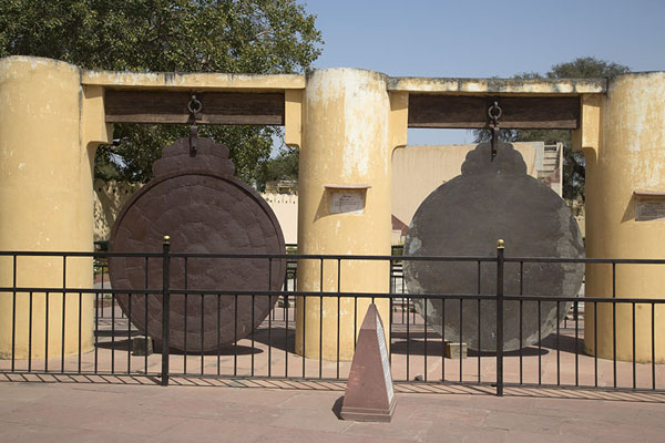 Picture of Frontal view of Yantra Raj, an instrument to measure the altitude of celestial bodies - India - Asia