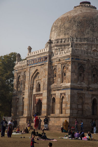 People relaxing near the Sheesh Gumbad | Lodi Gardens | India