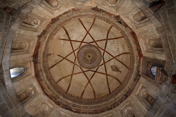 Looking up the cupola of the tomb of Muhammad Shah | Lodi Gardens | India