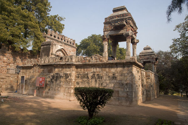 The southern gate with pavillions at the tomb of Sikander Lodi | Lodi Gardens | India