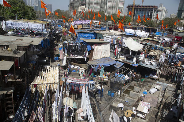 Foto van Overview of Dhobi Ghat from the viewpointMumbai - India