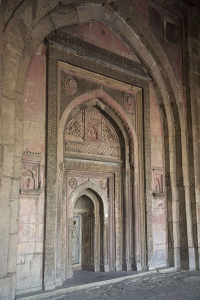 Mihrab in Jamali Kamali mosque | Mehrauli Archaeological Park | 印度
