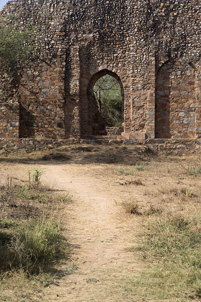 Path leading to the mausoleum of Balban | Mehrauli Archaeological Park | India