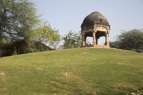 Foto van Hill with small pavilion near Jamali Kamali mosque - India - Azië