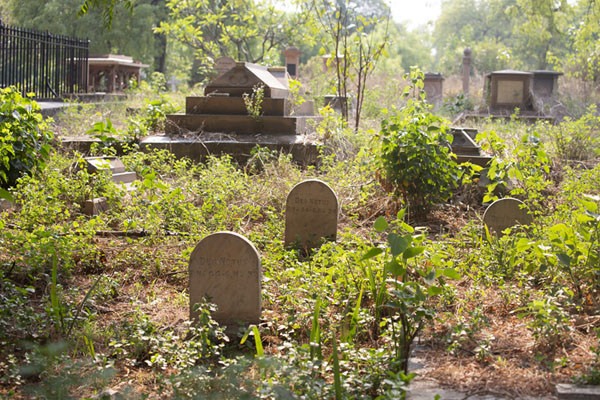 Collection of old tombs at the eastern part of the cemetery | Nicholson begraafplaats | India