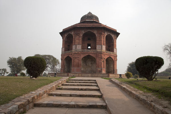 Picture of Sher Mandal, the private observatory and library, and the spot where Mughal Emperor Humayun fell to his deathDelhi - India