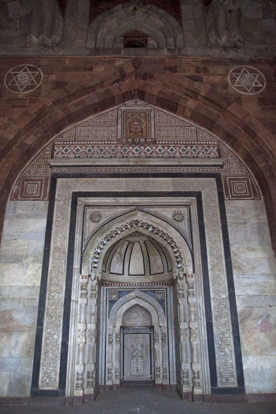 Picture of The central mihrab can be found under the dome of Qila-i-Kuhna mosqueDelhi - India