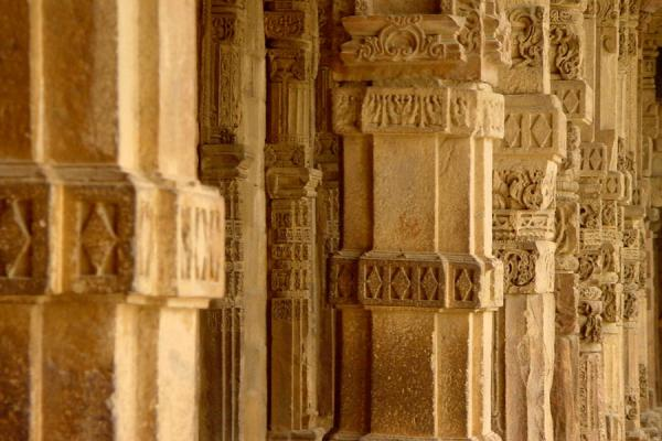 Colonnade of the mosque at the feet of Qutab Minar | Qutab Minar | India