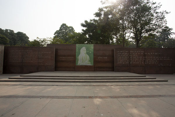 Foto di Memorial with quote from Indira Gandhi - India - Asia