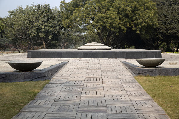 Foto van Memorail marking the spot where Rajiv Gandhi was cremated - India - Azië