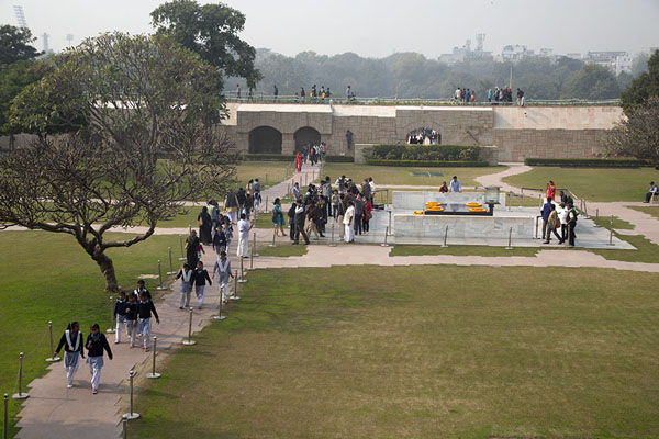 Foto van Overview of the memorial of Mahatma GandhiDelhi - India