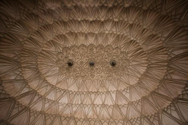 Detail of intricately carved ceiling in one of the chambers of Safdarjung Tomb | Safdarjung Tomb | India