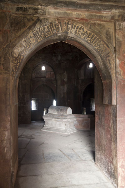 Picture of Tomb of Zafar Khan, in a smaller mausoleum near the one for Ghiyath al-Din
