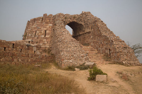Foto van Defensive tower at the top of Tughlaqabad FortDelhi - India