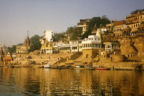 Varanasi with the ghats and the river Ganges | Varanasi | India