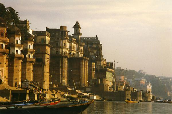 Picture of Buildings of Varanasi on the river Ganges