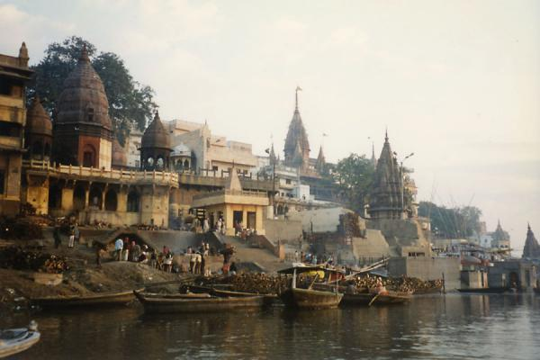 Varanasi seen from the water of the Ganges river | Varanasi | India