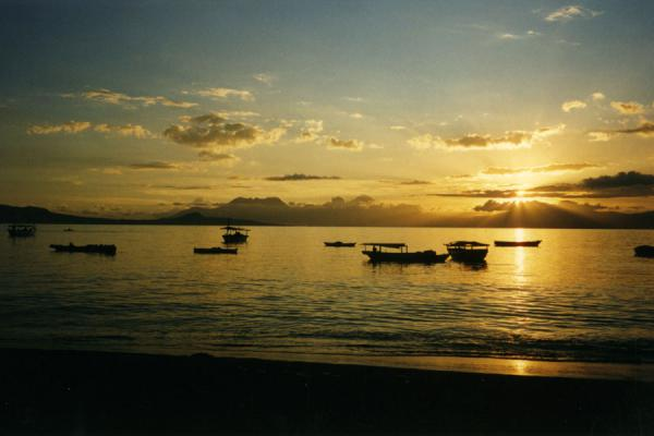 Picture of Flores (Indonesia): Sunset on Flores Island