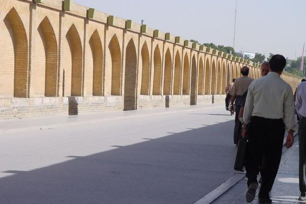 Foto van The Si o Se bridge from the insideIsfahan - Iran