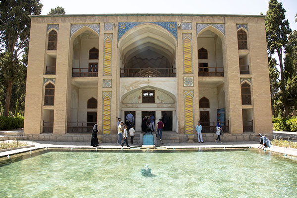 Picture of Shotor gelou, the central pavilion of Fin Garden with poolKashan - Iran