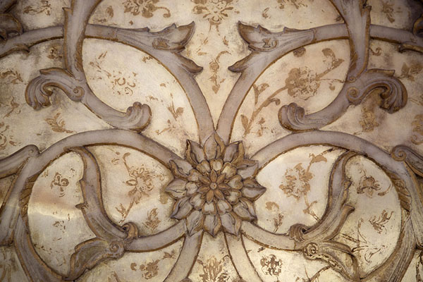 Picture of Close-up of the elegantly decorated half-transparent marble of the Marble Throne - Iran - Asia