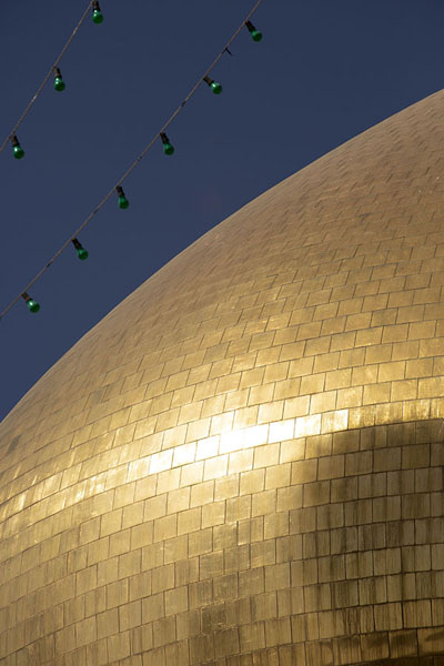 Close-up of the golden dome of the mausoleum | Hazrat-e Masumeh | Iran