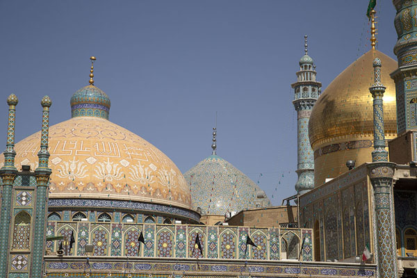 View of some of the domes of the mausoleum | Hazrat-e Masumeh | Iran
