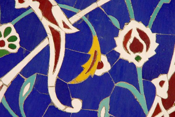Close-up of tile art | Hazrat e Mazumeh | Iran
