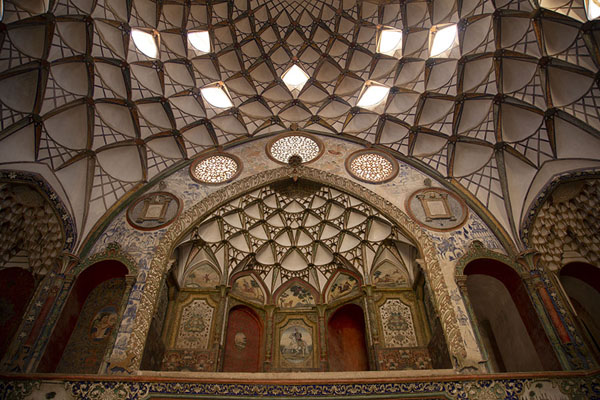 Picture of Frontal view of the half-open reception hall of Khan-e Borujerdi - Iran - Asia