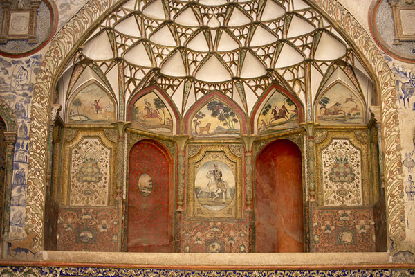 View of the central part of the reception hall | Khan-e Borujerdi | Iran