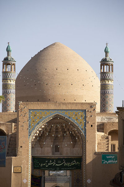 Foto van Frontal view of the mosqueKashan - Iran