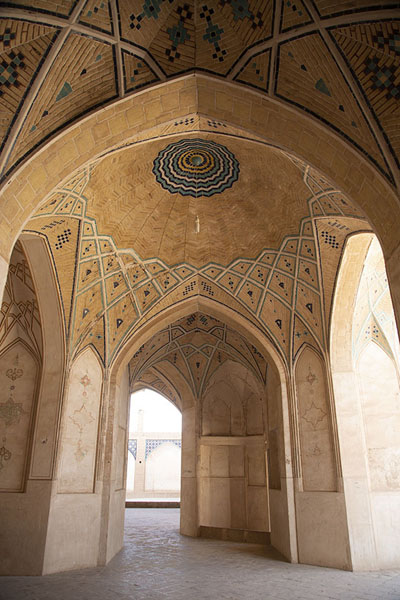 The decorated interior of the mosque | Masjed-e Agha Bozorg | Iran