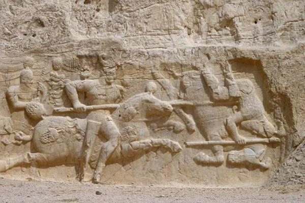 Another relief with a war scene | Naghsh-e Rostam | Iran