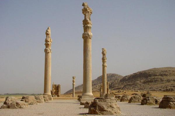 Foto di Some of the few standing columnsPersepolis - Iran
