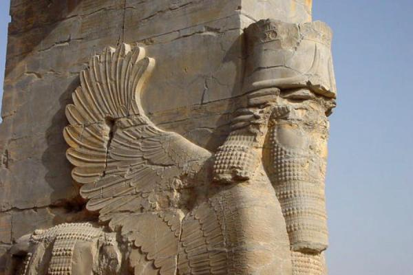 Picture of Detail of Xerxes gateway at Persepolis