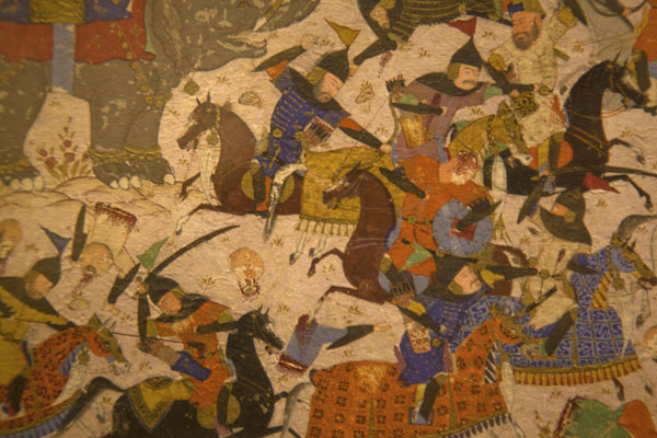 Foto di Detail of a calligraphy in the Mir Emad Calligraphy museumTeheran - Iran